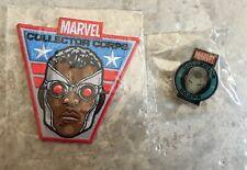 Marvel Collector Corps Funko 2015 Falcon Captain America Patch War Machine Pin