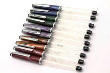 Set Of 10 - Wality swirled transparent Barrel Eyedropper Fine Nib Fountain Pen
