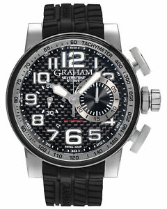 GRAHAM SILVERSTONE STOWE CHRONO AUTOMATIC MEN'S WATCH 2BLGA.B11A MSRP $8,670