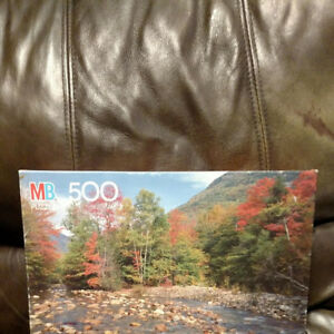 Vintage Milton Bradley 1990 Saco River, NH 500 Piece Croxley Jigsaw Puzzle NEW