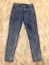 American Eagle Jeans Sz 6 Sky High Jegging Retro Blue Stone Acid Wash 28 X 28