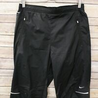 Nike Men's Running Pants Size M Black Nike Fit Black Windbreaker