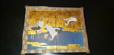 Japnese antique  Folding Screen painting collectible antique Asian art frame