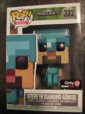 MINECRAFT Steve in Diamond Armor Funko Pop #322 (GameStop Exclusive!)