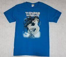 DC Comics Wonder Woman Rose Blue T Shirt Size Small
