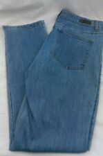 Woman's Lee Jeans 34Wx32.5L Light Blue Denim Stretch Soft Classic Fit