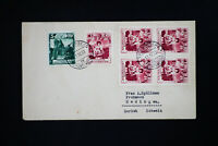 Liechtenstein 6 Stamps on Early Cover Backstamped