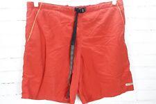 Columbia Men's Swim Trunks Board Shorts Size M Medium Nylon Belted Orange/Red