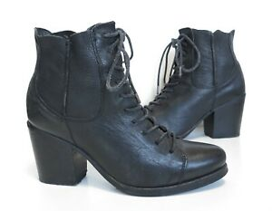 Ladies AllSaints Black Lace-up High-Heel ankle Boots Size UK 5 eur 38 Great Cond