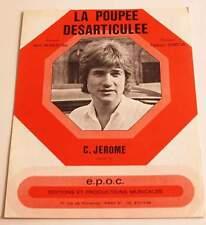 Partition vintage sheet music C. JEROME : La Poupée Désarticulée * 70's