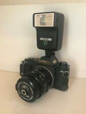 Excellent Canon T50 35mm SLR w/ FD 50mm 1.8 Lens 2X Teleconverter & Sunpak Flash