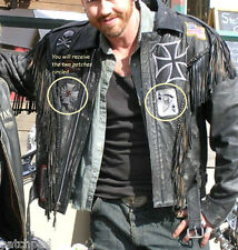 AS seen ON MOVIE WILD HOGS OUTLAW MC GANG iron-on SET: SPIDER WEB CROSS + SKULL