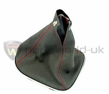 Alfa Romeo 147 Q2 Black Lever Gear Lever Gaiter Red Stitching GENUINE 156075793