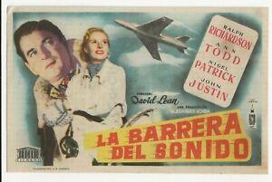 The Sound Barrier. Original 1953 Spanish Herald Film Advertisement. Ann Todd