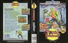 Toxic Crusader Sega Genesis NTSC USA Replacement Box Art Case Insert Cover Scan