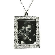 Elvis Photograph Pendant - come back concert - Silver with Swarkovski Crystals