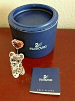 SWAROVSKI KRIS BEAR I LOVE YOU W/HEART BALLOON CRYSTAL FIGURINE. GREAT CONDITION