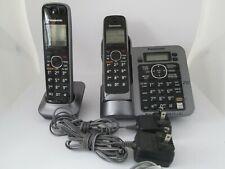 Panasonic Cordless Phone System Kx-Tg7641 Dect 6.0 2 Handsets