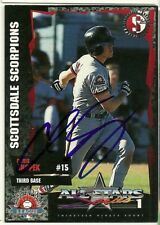 1995 Scottsdale Scorpions CHRIS SNOPEK Signed Card autograph white sox