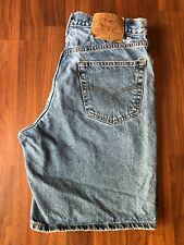 "Vintage Levis 550 Distressed Jean Shorts - Made in Mexico - 34"" (33"")"
