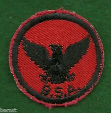 VINTACE BOY SCOUT - RED & BLACK EAGLE PATROL PATCH - USED - FREE SHIPPING