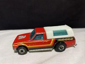 1979 Vintage Hot Wheels DODGE D50 Red Pickup Camper HI RAKER Truck Hong Kong