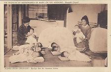 Babies at Franciscan Missionaries of Mary Mission BIWASAKI Japan 1920s Postcard