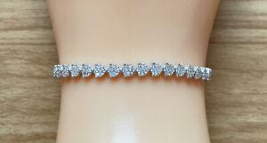 14ct White Gold Diamond Bracelet, 6 Inches Length, 0.4cm Wide, 5.5g