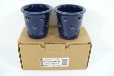 2 Longaberger Proudly American Votive Candles Blue new in original box