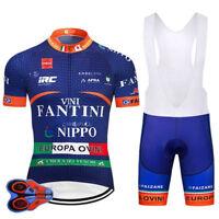 VINI Fantini Nippo RETRO Cycling BIKE Jersey Shirt Tricot Maillot Bib Kit