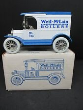 "ERTL 2122 RARE Weil-McLain Boilers 1917 Model ""T"" Bank 1/25 Scale Die-Cast Metal"