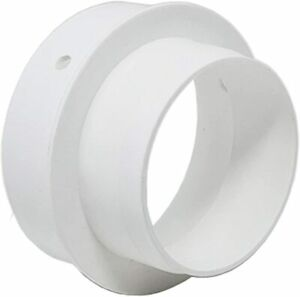 Ventilation Pipe Duct Reducer / Adaptor - 100mm to 80mm