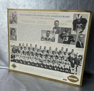 1951 WORLD CHAMPION LOS ANGELES RAMS LIMITED ED. TEAM PHOTO/CARD 1991 UPPER DECK