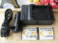 2 X NP-BN1 Li-ion Battery for SONY Cyber-shot Camera NPBN1 N TYPE +Charger