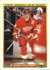 1990-91 (RED WINGS) Bowman Hat Tricks Tiffany #5 Steve Yzerman