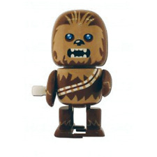 Star Wars : Wind Up Walking Wobbler : Chewbacca figure new sealed NEW imballato