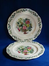 ROYAL ACADEMY BONE CHINA QUEEN ANNE PAIR DINNER PLATES 10 3/8""
