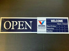 Valvoline Store Hours Open Closed Plastic Sign New In Box Vintage