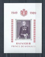MONACO  BLOC  N°  45  PRINCE  RAINIER  III  1949 / 1989  NEUF **