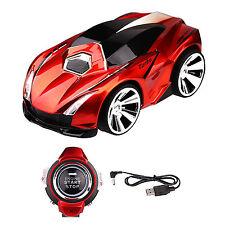 Rouge Lambo Voice commande véhicule voiture avec smart watch Kid 2.4G