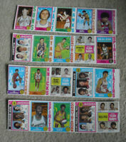 Rare Lot of 4 Uncut Sheet Panels 1974-75 Topps Basketball Cards with Stars