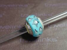 ** Genuine Lovelinks * BLUE HARLEQUIN Murano Bead **
