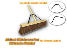 600mm Yard Broom Outdoor Garden Broom drive way broom with bamboo handle