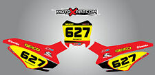 Honda CRF 125 2014 - 2015 model custom number plate stickers / decals SONIC
