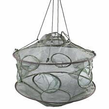 Folded Fish Net Trap Portable Crab Trap Minnow Shrimp Fishing Bait Crayfish NEW