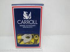 CARROLL RC5-8 8mm STUD YELLOW RING TERMINAL CRIMP LUGS 2500 PACK