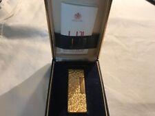 Dunhill Rollagas Lighter,Original box, gold tone, bark, made in Switzerland