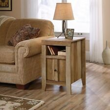 Sauder 420139 Dakota Pass End Table With Reversible Door in Craftsman Oak Finish