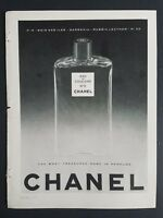 1956 Eau de cologne  No. 5 Chanel perfume bottle vintage fragrance ad