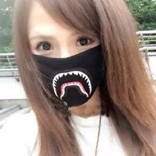 Hot A Bathing Ape Bape Shark Black Face Mask Camouflage Mouth-muffle BAPE